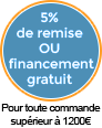 5% de remise ou financement offert